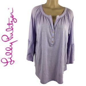 Lilly Pulitzer Purple Lilac Cotton Teigen Top XL